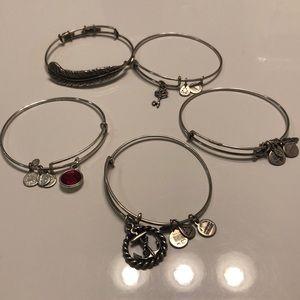 5 piece Alex and Ani bracelet bundle